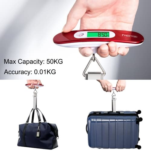 Freetoo Luggage Scale Being Used